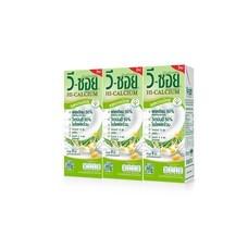 วีซอย นมถั่วเหลือง UHT สูตรหวานน้อย 230 มิลลิลิตร แพ็ก 3