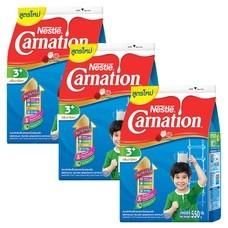 เนสท์เล่คาร์เนชั่นสมาร์ทโกวันพลัส นมผงสูตร 4 กลิ่นวานิลลา สำหรับเด็กอายุ 3 ปีขึ้นไป 550 กรัม (แพ็ก 3 )
