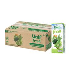 ยูนิฟเฟรช น้ำผลไม้รวมผสมผักใบเขียว 40% (ยกลัง 24 ขวด)