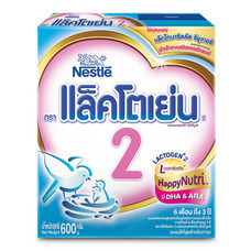 เนสท์เล่แล็คโตเย่น นมผงสูตร 2 สำหรับทารกและเด็กเล็ก อายุ 6 เดือนขึ้นไป 600 ก.