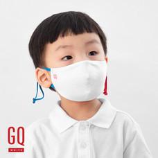 GQ หน้ากากผ้าเด็กหูสีน้ำเงิน-แดง