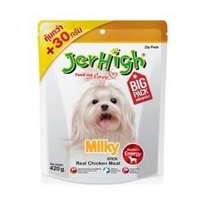 ขนมสุนัขเจอร์ไฮ สติ๊ก รสไก่และนม 420ก.
