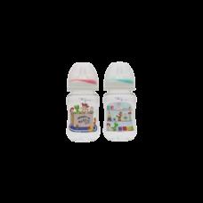 เพียวรีนขวดนมไทรตันทอยสตรอรี่คอกว้าง 8 oz.x 2-สี (แดง+เขียว)