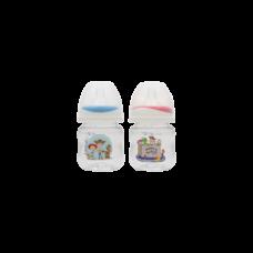 เพียวรีนขวดนมไทรตันทอยสตรอรี่ คอกว้าง 4 oz.x 2-สี (ฟ้า+ แดง)