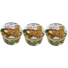 คุดกิ้งทาวน์บะหมี่กึ่งสำเร็จรูปชนิดชามรสผัดขี้เมาทะเล 60 กรัม แพ็ก 3