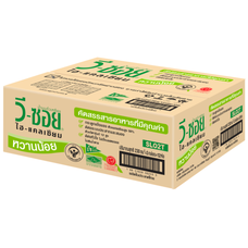 ถั่วเหลือง UHT วีซอยหวานน้อย  230 มิลลิลิตร (ขายยกลัง 36 กล่อง)