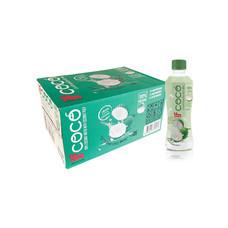 อีฟโคโค่ น้ำมะพร้าวผสมเนื้อมะพร้าว 100% 350 มิลลิลิตร (ยกลัง 24 ขวด)