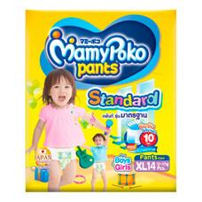 กางเกงผ้าอ้อมเด็กมามี่โพโค แพ้นท์ สแตนดาร์ด ไซส์ XL 14 ชิ้น