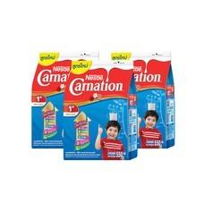 เนสท์เล่คาร์เนชั่นสมาร์ทโกวันพลัส นมผงสูตร 3 กลิ่นวานิลลา สำหรับเด็กอายุ 1 ปีขึ้นไป 550 กรัม (แพ็ก 3)