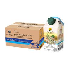 ดอยคำ น้ำตะไคร้ผสมขิงและใบเตย 500 มล. (ยกลัง 12 กล่อง)