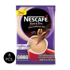 เนสกาแฟ3in1 เบลนด์แอนด์บรู สูตรน้ำตาลน้อย 15.6 กรัม (9 ซอง/ถุง) แพ็ก 8 ถุง