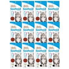 ขนมแมวจินนี่ สติ๊ก รสซีฟู้ด 35ก. (1แพ็ก 12 ชิ้น)