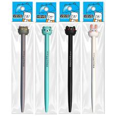 YOYA ปากกาเจลน้ำเงินแพ็ค1 JS คละแบบ แพ็ก 4