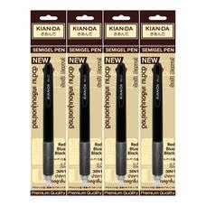 KIAN-DA ปากกาเจลลูกลื่นเคียนดะ 0.7 3in1 1 แพ็ก 4 ชิ้น
