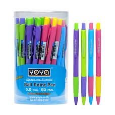 YOYA 1081 ปากกาลูกลื่นน้ำเงิน 0.5 มม. 1 กล่อง 50 ด้าม