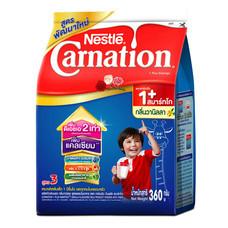 เนสท์เล่คาร์เนชั่นสมาร์ทโกวันพลัส นมผงสูตร 3 กลิ่นวานิลลา สำหรับเด็กอายุ 1 ปีขึ้นไป 360 ก.
