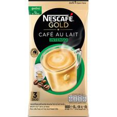 เนสกาแฟโกลด์คาเฟ่โอเลท์ กาแฟสำเร็จรูปชนิดผง สูตรเข้มกลมกล่อม แพ็ค 3 ซอง