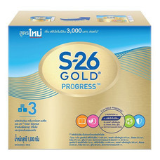 เอส26โปรเกรสโกลด์ นมผงสูตร 3 รสจืด สำหรับเด็กอายุ 1 ปีขึ้นไป 1,800 ก.