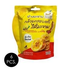 บ้านมะขาม กล้วยกรอบแก้วไส้มะขามรสเผ็ด 45 กรัม (แพ็ก 6 ชิ้น)