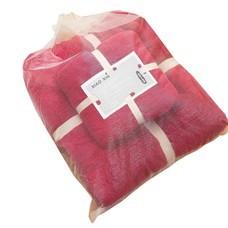 ชุดของขวัญ ผ้าขนหนู Set B สีแดง