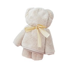 ชุดถุงของขวัญ ผ้าขนหนูน้องหมี สีน้ำตาลอ่อน