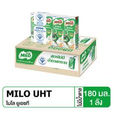 ไมโลสูตรไม่เติมน้ำตาล นมUHT 180 มิลลิลิตร (ขายยกลัง 48 กล่อง)