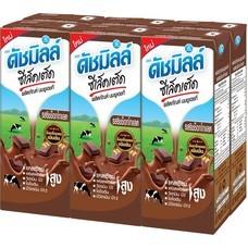 ดัชมิลล์ซีเลคเต็ค นมUHT รสช็อคโกแลต 225 มิลลิลิตร แพ็ก 6