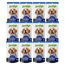 อาหารสุนัขเปียกเจอร์ไฮ รสไก่ในน้ำเกรวี่ 120 G. (1แพ็ก 12 ซอง)
