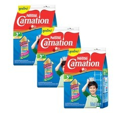 นมผงคาร์เนชั่น3+สูตร4 รสน้ำผึ้ง550 กรัม (แพ็ก 3)