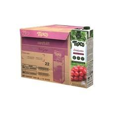 ทิปโก้ น้ำองุ่นแดง 100% ขนาด 1 ลิตร  (ยกลัง 12 กล่อง)