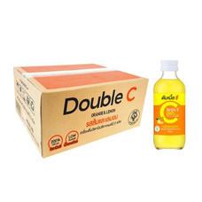 ดับเบิ้ลซี รสส้มและเลมอน 160 มิลลิลิตร (ยกลัง 30 ขวด)