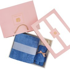 ชุดกล่องผ้าขนหนูน้องหมี สีน้ำเงิน