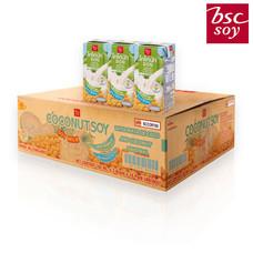 บีเอสซี นมถั่วเหลือง UHT โคโค่นัทซอย 180 มิลลิลิตร แพ็ก 3  (ขายยกลัง 48 กล่อง )
