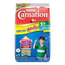 เนสท์เล่คาร์เนชั่นสมาร์ทโกวันพลัส นมผงสูตร 4 รสจืด สำหรับเด็กอายุ 3 ปีขึ้นไป 1,300 ก.