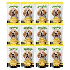 อาหารสุนัขเปียกเจอร์ไฮ ไก่และตับ 120ก. (1แพ็ก 12 ซอง)