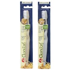 ดอกบัวคู่ แปรงสีฟัน เนเชอรัล คลีน ขนแปรงยับยั้งแบคทีเรีย แพ็ก 12 ด้าม