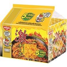 นิสชินบะหมี่กึ่งสำหร็จรูปชนิดซอง รสไก่เผ็ดเกาหลีชีส 60 กรัม แพ็ก 5ซอง
