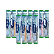 แปรงสีฟันเบอร์แมน สุพรีมา แพ็ก 12 ด้าม (คละสี)