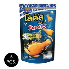 ขนมน่องไก่โลตัสXเบนโตะรสหมึกปรุงรส 80 กรัม (แพ็ก 6 ชิ้น)