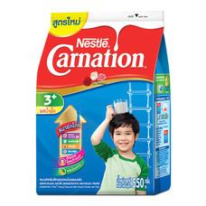 นมผงคาร์เนชั่น3+สูตร4 รสน้ำผึ้ง550กรัม