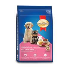 สมาร์ทฮาร์ทอาหารลูกสุนัข รสเนื้อและนม 1.5 กิโลกรัม