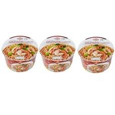 คุดกิ้งทาวน์บะหมี่กึ่งสำเร็จรูปชนิดชามรสต้มยำกุ้งน้ำข้น 60 กรัม แพ็ก 3