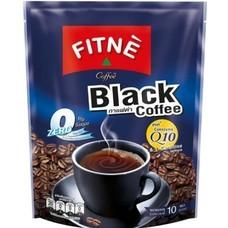ฟิตเน่คอฟฟี่ กาแฟสำเร็จรูปชนิดผง สูตรกาแฟดำผสมโคเอนไซม์คิวเท็น แพ็ค 10 ซอง