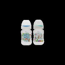 เพียวรีนขวดนมไทรตันทอยสตรอรี่ คอกว้าง 8 oz.x 2-สี (ฟ้า+เขียว)