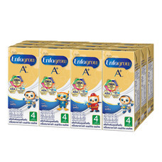 เอนฟาโกร นม UHT สูตร 4 รสจืด 180 มล.  (ยกแพ็ก 12 กล่อง)