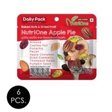 นูทรีวัน ถั่วผสมผลไม้อบแห้งแอปเปิ้ลพาย 28 กรัม (แพ็ก 6 ชิ้น)