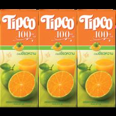 ทิปโก้น้ำส้มเขียวหวาน 200 มิลลิลิตร แพ็ก3