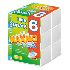 แม๊กซ์โม่ บาย เซลล็อกซ์ กระดาษอเนกประสงค์ แบบแผ่น 90 แผ่น แพ็ค 6