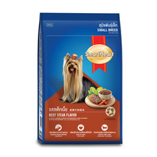สมาร์ทฮาร์ทอาหารสุนัขพันธุ์เล็ก รสสเต็กเนื้อ 2.6 กิโลกรัม