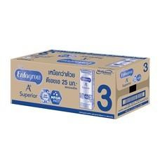 เอ็นฟาโกรซุพีเรียร์  นมUHT สูตร3 รสจืด 180 มิลลิลิตร (ขายยกลัง 24 กล่อง)
